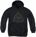 Charmed youth teen hoodie Triple Linked Logo black