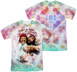 Cheech & Chong mens full sublimation t-shirt Fried Tie Dyed