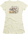 Cheers juniors t-shirt Opening Distressed cream