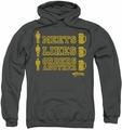 Cheers pull-over hoodie Man Meets Beer adult charcoal