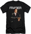 Cheers slim-fit t-shirt Frasier mens black