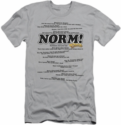 Cheers slim-fit t-shirt Normisms mens silver