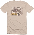 Cheers slim-fit t-shirt Opening Distressed mens cream