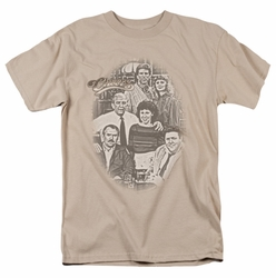Cheers t-shirt Original Cast mens sand