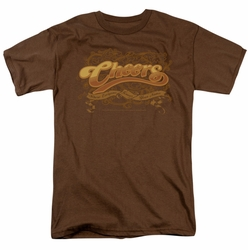 Cheers t-shirt Scrolled Logo mens coffee