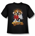 Cheers youth teen t-shirt Group Shot black