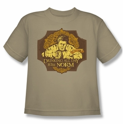 Cheers youth teen t-shirt The Norm sand