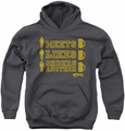 Cheers youth teen hoodie Man Meets Beer charcoal