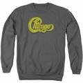 Chicago adult crewneck sweatshirt Distressed charcoal
