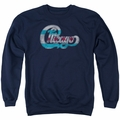 Chicago adult crewneck sweatshirt Flag Logo navy