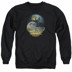 Chicago adult crewneck sweatshirt Live black