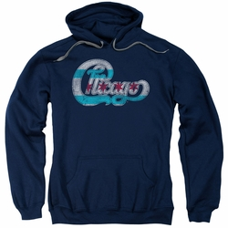 Chicago pull-over hoodie Flag Logo adult navy