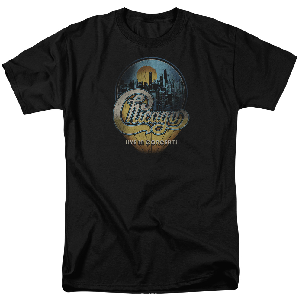Chicago T Shirt Live Mens Black