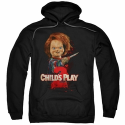 Child's Play 2 pull-over hoodie Heres Chucky adult black