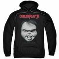 Child's Play 3 pull-over hoodie Face Poster adult black