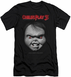 Child'S Play 3 slim-fit t-shirt Face Poster mens black