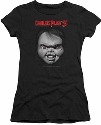 Childs Play 3 juniors t-shirt Face Poster black