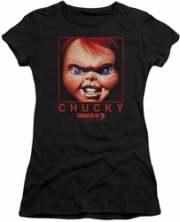 Childs Play juniors t-shirt Chucky Squared black