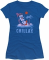 Chilly Willy juniors t-shirt Chillax royal blue