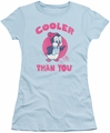 Chilly Willy juniors t-shirt Cooler Than You light blue