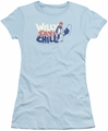 Chilly Willy juniors t-shirt I Say Chill light blue