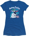 Chilly Willy juniors t-shirt Making Friends royal