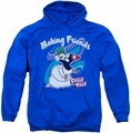 Chilly Willy pull-over hoodie Making Friends adult royal blue