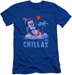 Chilly Willy slim-fit t-shirt Chillax mens royal blue