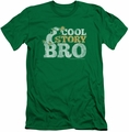 Chilly Willy slim-fit t-shirt Cool Story mens kelly green