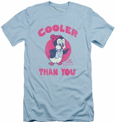 Chilly Willy slim-fit t-shirt Cooler Than You mens light blue