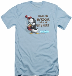 Chilly Willy slim-fit t-shirt Hands Off mens light blue