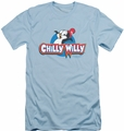 Chilly Willy slim-fit t-shirt Logo mens light blue
