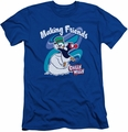 Chilly Willy slim-fit t-shirt Making Friends mens royal