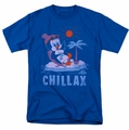 Chilly Willy t-shirt Chillax mens royal blue