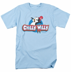 Chilly Willy t-shirt Logo mens light blue