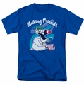 Chilly Willy t-shirt Making Friends mens royal