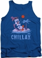 Chilly Willy tank top Chillax mens royal blue