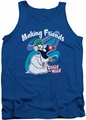 Chilly Willy tank top Making Friends mens royal