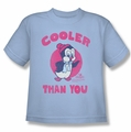 Chilly Willy youth teen t-shirt Cooler Than You light blue