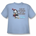 Chilly Willy youth teen t-shirt Hands Off light blue