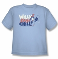 Chilly Willy youth teen t-shirt I Say Chill light blue