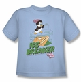 Chilly Willy youth teen t-shirt Ice Breaker light blue