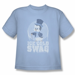 Chilly Willy youth teen t-shirt Ice Cold light blue