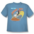 Chilly Willy youth teen t-shirt Jump In carolina blue