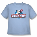 Chilly Willy youth teen t-shirt Logo light blue