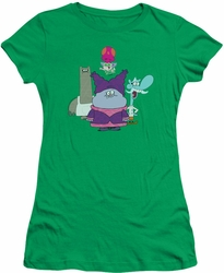 Chowder juniors t-shirt Group kelly green
