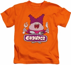 Chowder kids t-shirt Logo orange