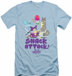 Chowder slim-fit t-shirt Snack Attack mens light blue