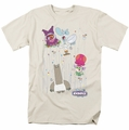 Chowder t-shirt Dots Collage mens cream
