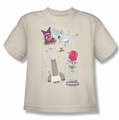 Chowder youth teen t-shirt Dots Collage cream
